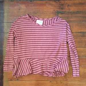 We the free free people long sleeve top L